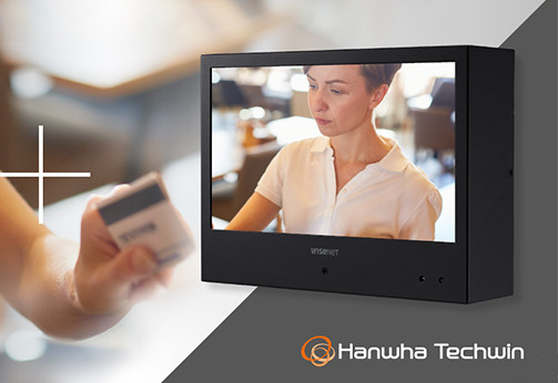 Hanwha Techwin launches Wisenet Public View Monitors with built-in camera